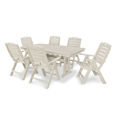 7 Piece Nautical Dining Set in Sand