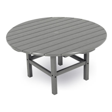 "Round 38"" Conversation Table by Ivy Terrace in Slate Grey"