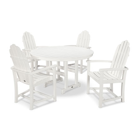 Classic Adirondack Dining 5-Piece Set in White