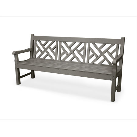 "Rockford 72"" Chippendale Bench in Slate Grey"
