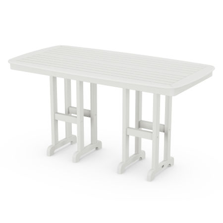 """Nautical 37"""" x 72"""" Counter Table in Vintage White"""