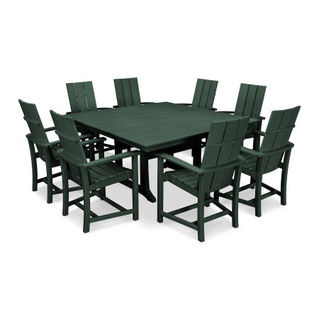 Adirondack 9-Piece Farmhouse Dining Set in Green