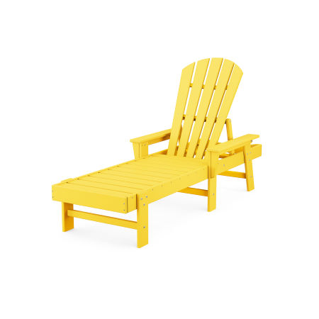 South Beach Chaise in Lemon
