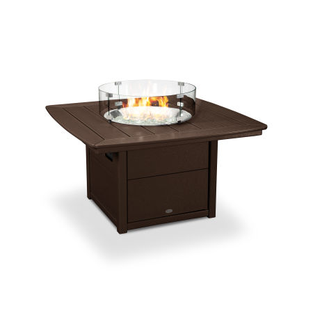 "Nautical 42"" Fire Pit Table in Mahogany"