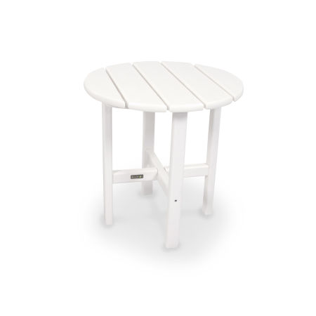 "18"" Round Side Table by Ivy Terrace™ in White"