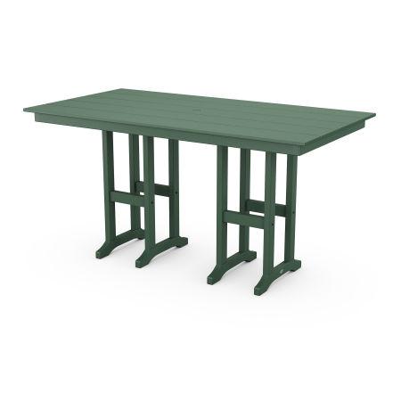 "Farmhouse 37"" x 72"" Counter Table in Green"