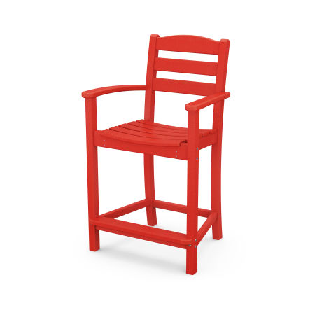 La Casa Café Counter Arm Chair in Sunset Red
