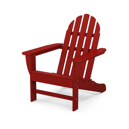 Classic Adirondack Chair in Crimson Red