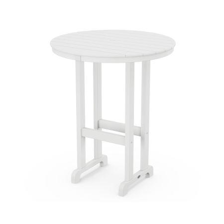"""La Casa Café Round 36"""" Bar Table in White"""