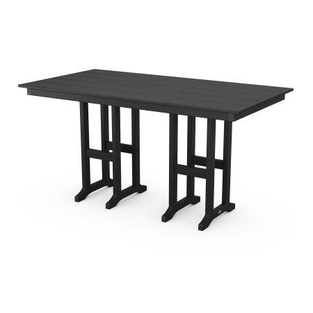 "Farmhouse 37"" x 72"" Counter Table in Black"