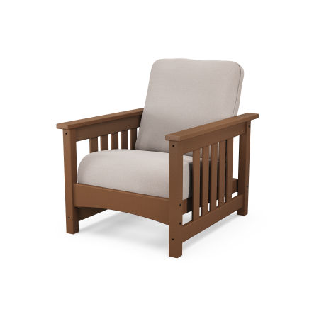 Mission Chair in Teak / Dune Burlap