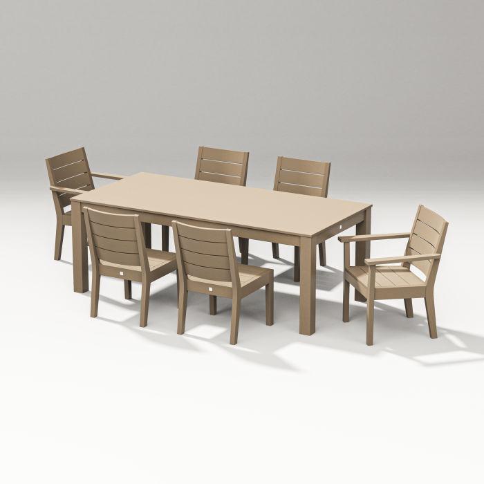 "Latitude 7-Piece Dining Set - Parsons 84"""