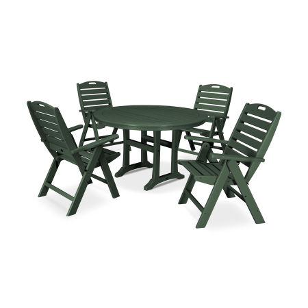 5 Piece Nautical Dining Set in Green
