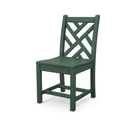 Chippendale Dining Side Chair in Green