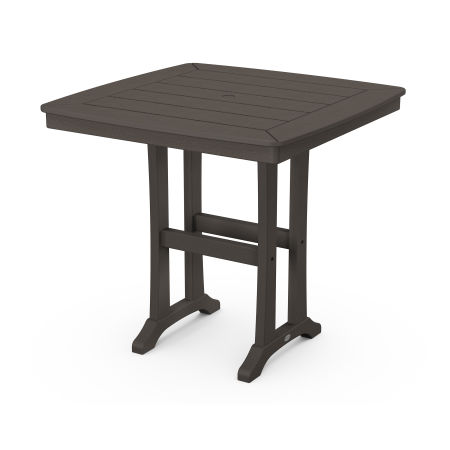 """Nautical Trestle 37"""" Counter Table in Vintage Finish"""
