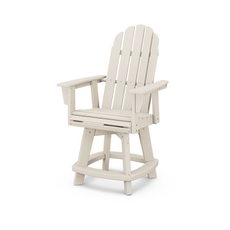 Vineyard Adirondack Swivel Counter Chair in Sand