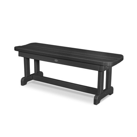 "Park 48"" Backless Bench in Black"