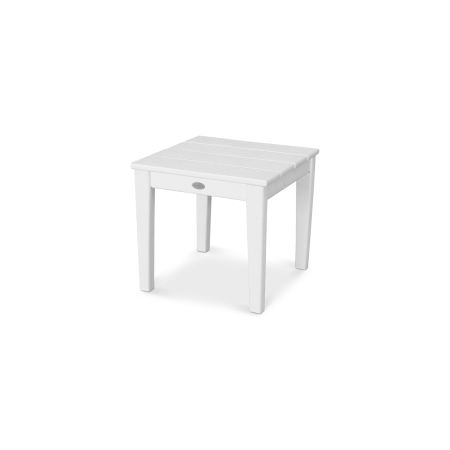 """Newport 18"""" End Table in Vintage White"""