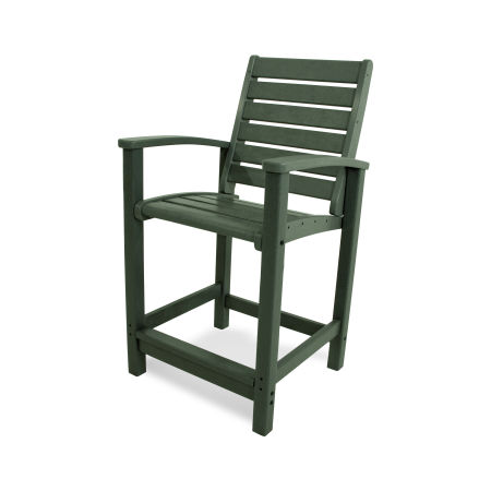 Signature Counter Chair in Green