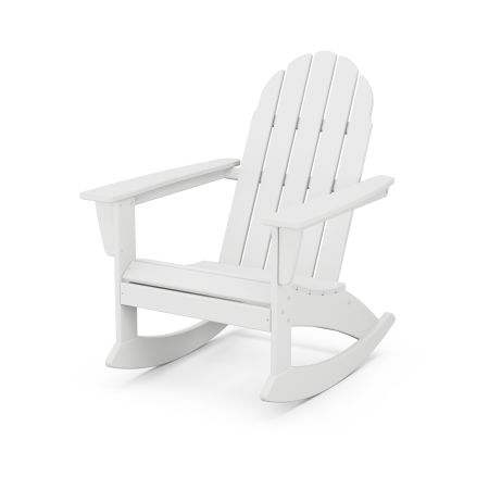 Vineyard Adirondack Rocking Chair in White