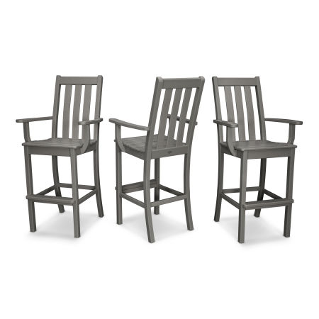 Vineyard Bar Arm Chair 3-Pack