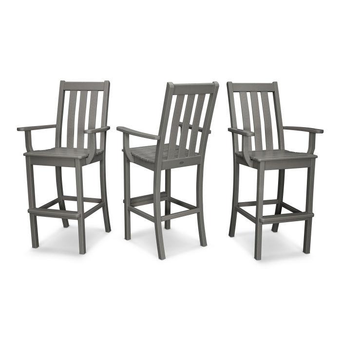 Vineyard Bar Arm Chair 3-Pack