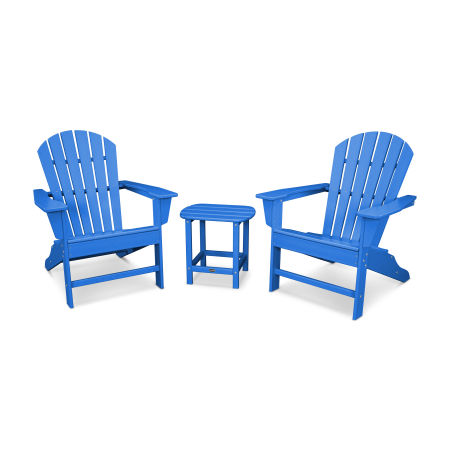 South Beach Adirondack 3-Piece Set in Pacific Blue