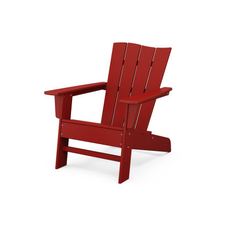 The Wave Chair Left in Crimson Red