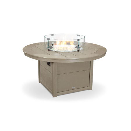 """Round 48"""" Fire Pit Table in Vintage Sahara"""