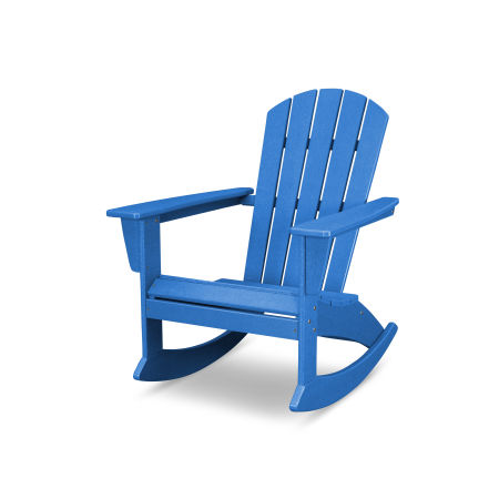 Nautical Adirondack Rocking Chair in Vintage Pacific Blue
