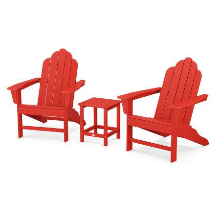 Long Island Adirondack 3-Piece Set in Sunset Red