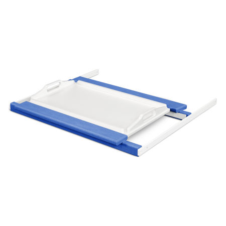 Tray Table in Pacific Blue / White