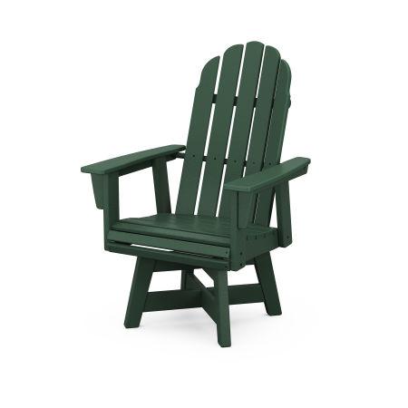 Vineyard Adirondack Swivel Dining Chair in Green