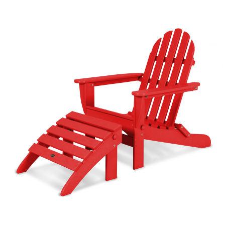 Classic Adirondack 2-Piece Set in Sunset Red