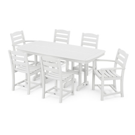 La Casa Café 7-Piece Dining Set in White