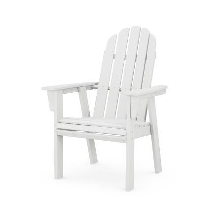 Vineyard Adirondack Dining Chair in White