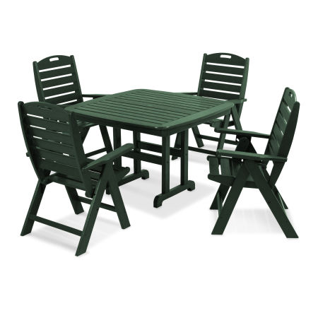 Nautical 5-Piece Dining Set in Green