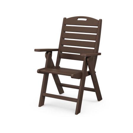 Nautical Highback Chair in Mahogany