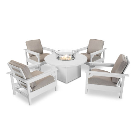Club 5-Piece Chat Set in White / Cast Ash