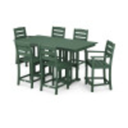 Lakeside 7-Piece Counter Set in Green