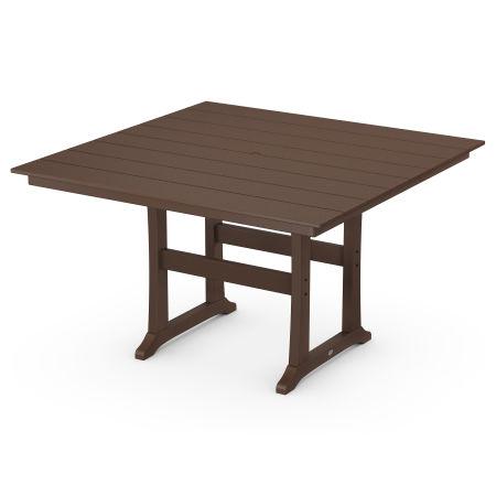 "59"" Counter Table in Mahogany"