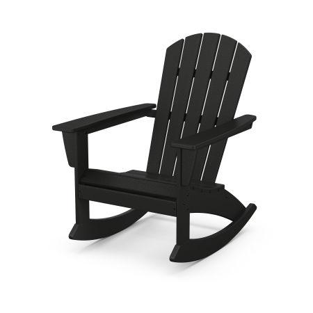 Nautical Adirondack Rocking Chair in Black