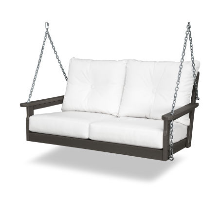 Vineyard Deep Seating Swing in Vintage Finish