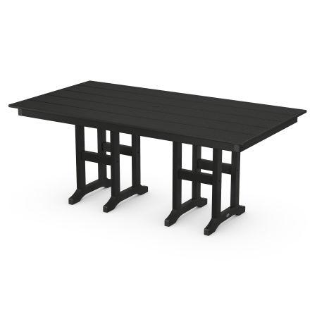 "Lakeside 37"" x 72"" Farmhouse Dining Table in Black"