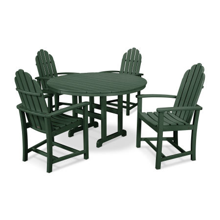 Classic Adirondack Dining 5-Piece Set in Green
