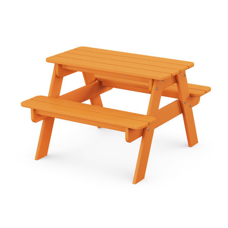 Kids Picnic Table in Tangerine