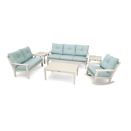 Vineyard 6-Piece Deep Seating Set in Sand / Spa
