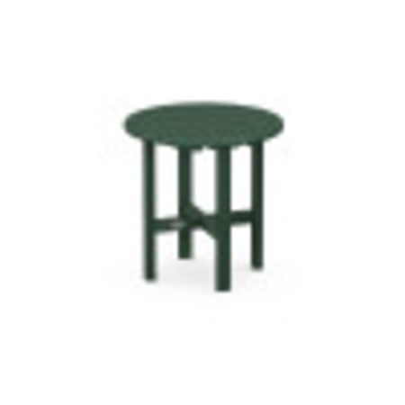 """Round 18"""" Side Table in Green"""