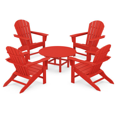 5-Piece Conversation Group in Sunset Red