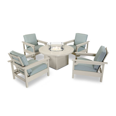 Club 5-Piece Chat Set in Sand / Spa